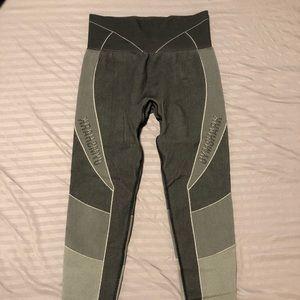 Gymshark Grey/Black Turbo Seamless Leggings